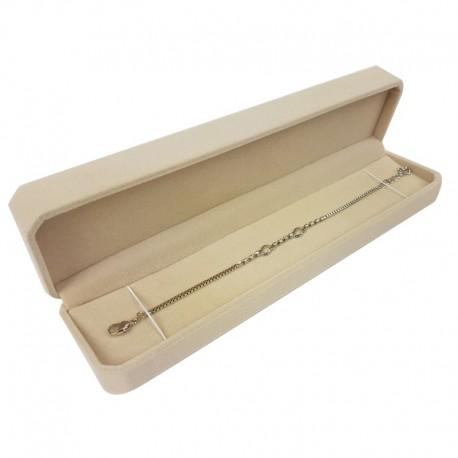 1 écrin en velours beige clair uni à bracelet ou stylo - 10103