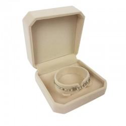 1 écrin en velours beige clair uni pour bracelet - 10105