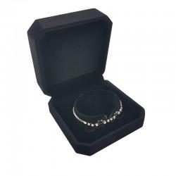 1 écrin en velours noir uni pour bracelet - 10097
