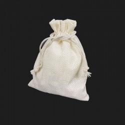 10 bourses cadeaux en toile de jute écrues 10x11cm - 5513