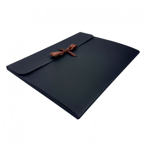 12 enveloppes en carton de couleur noire 24x18x0.7cm - 7961