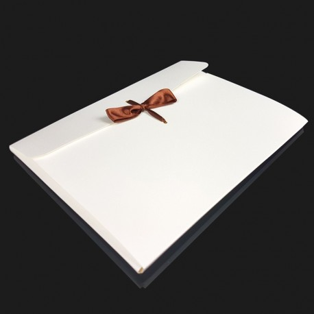 12 enveloppes en carton pelliculé de couleur blanche 24x18x0.7cm - 7960