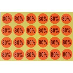Lot de 240 étiquettes de remise adhésives 80% oranges - 7926of