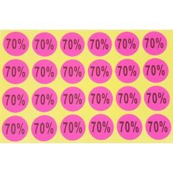 240 Étiquettes adhésives 70% roses fluo - 7925r