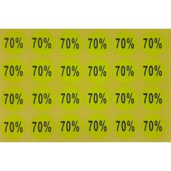 240 Étiquettes adhésives 70% jaune fluo - 7925j
