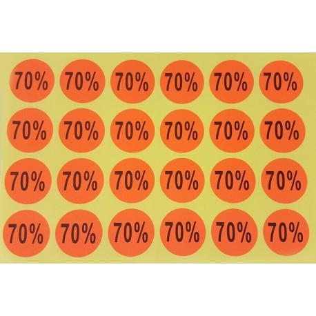 240 étiquettes adhésives 70% orange foncé - 7925of