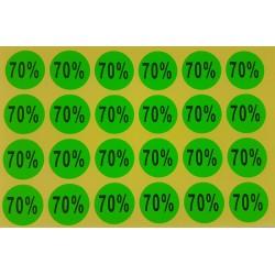 240 étiquettes adhésives 70% vertes - 7925v