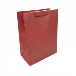 Lot de 12 sacs cadeaux couleur rouge bordeaux 18x10x23cm - 9021