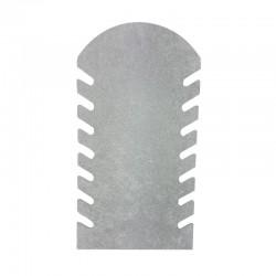 Présentoir bijoux plat sur pied en velours gris pour chaînes - 5889
