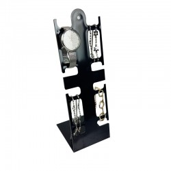 Présentoir montres-bracelets en plastique noir - 9028
