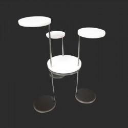 Support bijoux en acrylique blanc à 3 plateaux - 9030