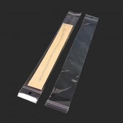 100 sachets autocollants en plastique 4x24.5cm - 7971