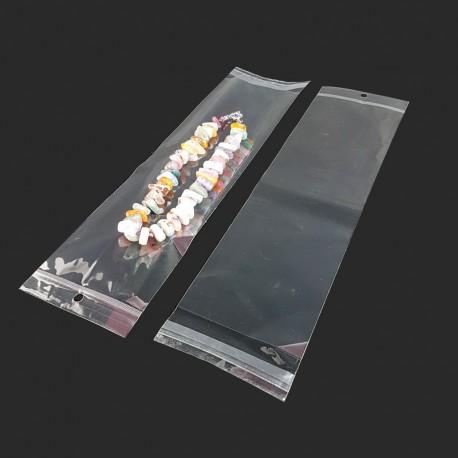 100 sachets adhésifs transparents longs - 7974