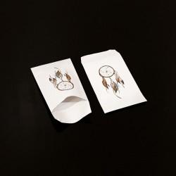 100 petits sachets cadeaux papier 6x10cm motif attrape rêves - 8093