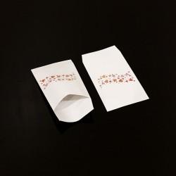100 petits sachets cadeaux papier 6x10cm motif frise de cœurs - 8094