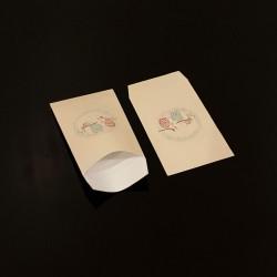 100 petits sachets cadeaux papier 6x10cm motif hiboux - 8095