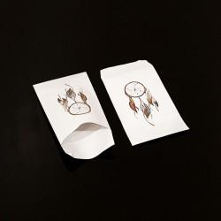 100 pochettes cadeaux 7x13cm motif attrape rêves - 8100