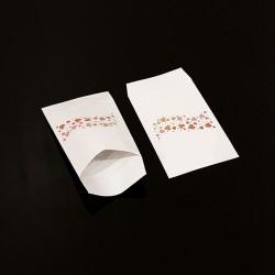 100 pochettes cadeaux 7x13cm motif frise de coeurs - 8101