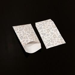 100 pochettes cadeaux 7x13cm motif sapins de Noël - 8103