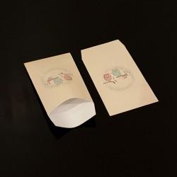 Lot de 100 sachets cadeaux blancs motif hiboux 11x17cm - 8110