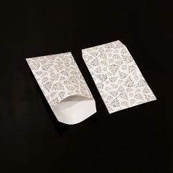 Lot de 100 sachets cadeaux blancs motif sapin de Noël 11x17cm - 8111