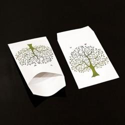 50 grandes pochettes cadeaux motif arbre de vie 21x29cm - 8122