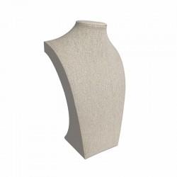 Buste pour bijoux en coton beige 20cm - 9111