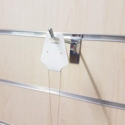 100 supports bijoux en carton blanc à suspendre 5x12cm - 9104