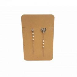 Lot de 100 support bijoux en carton kraft pour parure 6.5x10cm - 9101