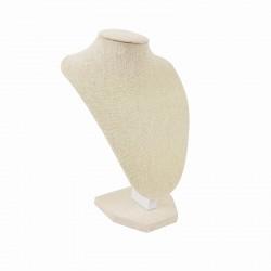 Petit buste en coton beige naturel 21cm - 9178