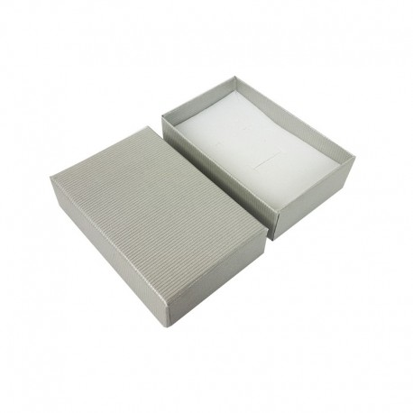 120 écrins à bijoux gris clair pour parures - 10142x5