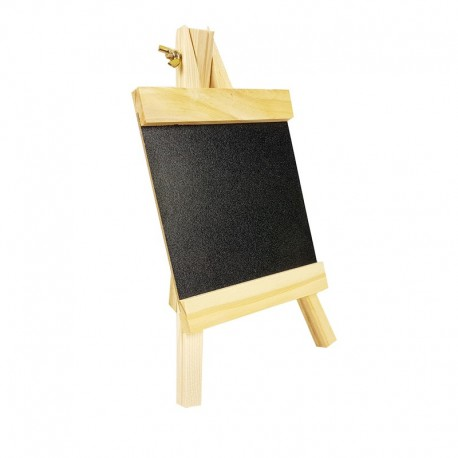 Petit chevalet ardoise en bois clair pour affichage prix 12x24cm - 9231