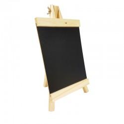 Chevalet ardoise en bois clair pour affichage prix 16x28cm - 9232