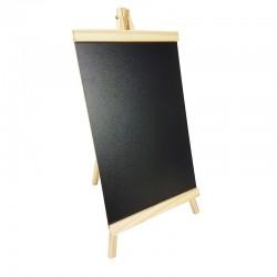 Chevalet ardoise en bois pour affichage informations 25x48cm - 9234