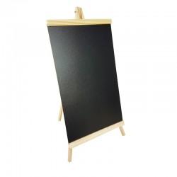 Grand chevalet ardoise en bois clair pour affichage prix 30x58cm - 9235