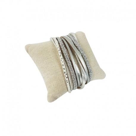 20 petits coussins en coton beige naturel - 9260x20