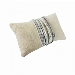 Lot de 20 coussins bracelets en coton beige naturel 13x7cm - 9261x20