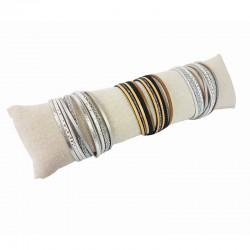 Coussin long en coton beige naturel 29cm - 9262