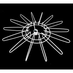 Étage antivol en métal blanc 49cm à 14 branches - 1754