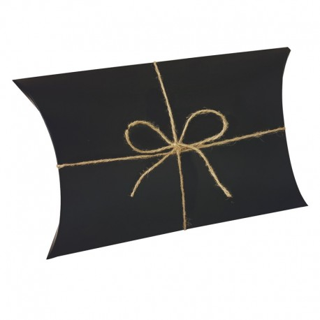 25 pochettes cadeaux berlingot en carton noir 14x22x5cm - 9387