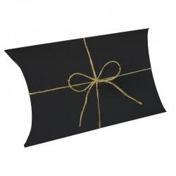 25 pochettes cadeaux berlingot carton noir 16x25x6.5cm - 9388