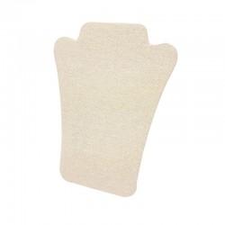 Buste collier pliable en coton beige naturel - 9392