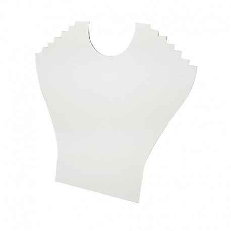 Porte colliers en simili cuir blanc 6 chaînes - 9395