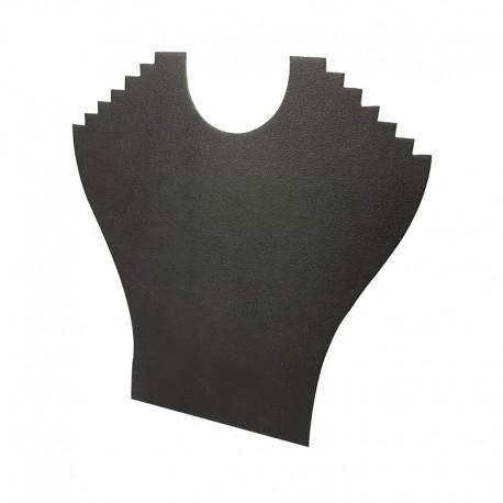 Porte colliers en simili cuir noir 6 chaînes - 9396
