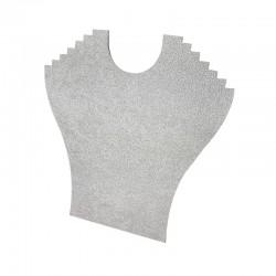 Porte colliers en velours gris 6 chaînes - 9397