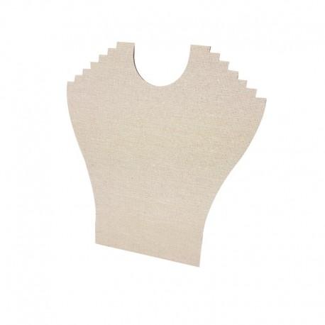 Porte colliers en coton beige 6 chaînes - 9398