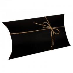 Lot de 25 boîtes berlingot en carton noir 18x33x7cm - 9389