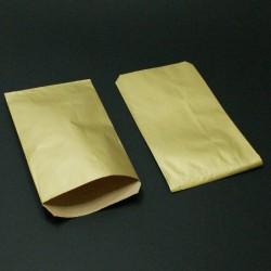 Boîte de 250 grandes pochettes cadeaux kraft doré 21+7x38cm - 8129
