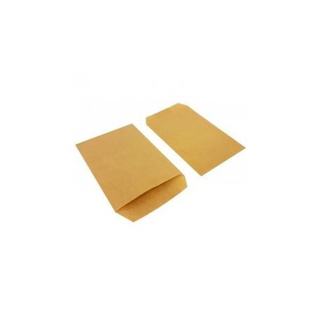Boîte de 250 grandes pochettes cadeaux kraft naturel 21+7x38cm - 8131