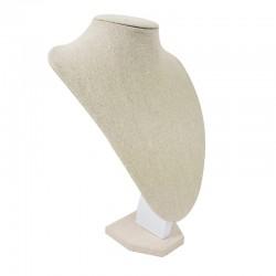 10 bustes longs en coton beige naturel 35cm - 9182x10